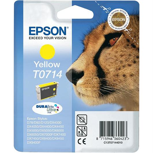 Druckerpatrone Epson T0714 (gelb), Original