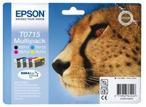 Druckerpatronen Set Epson T0715 (BK/C/M/Y), Original