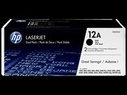 Toner HP Q2612AD (schwarz), Doppelpack, Original