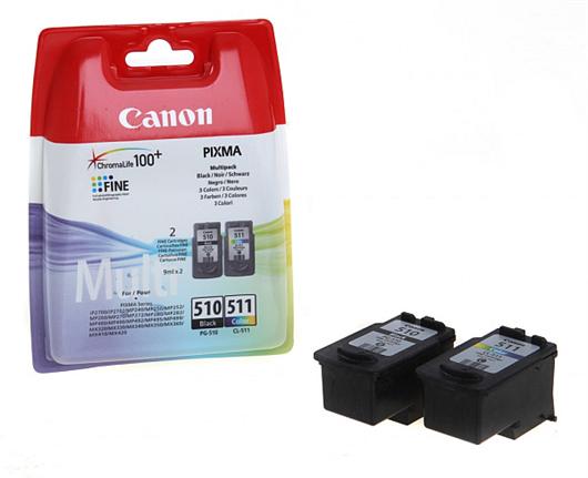 Druckerpatronen Set Canon PG-510 + CL-511, Original