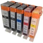 Druckerpatronen Set ezPrint für Canon CLI-521 BK/C/M/Y + PGI-520BK