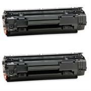 Toner ezPrint für HP CB435A (schwarz), Doppelpack