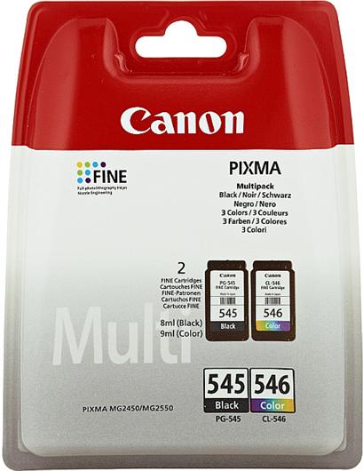 Druckerpatronen Set Canon PG-545 + CL-546, Original