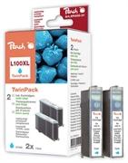 Druckerpatronen Set für Lexmark 14N1069E nr.100XL (blau), Doppelpack, Kompatibler